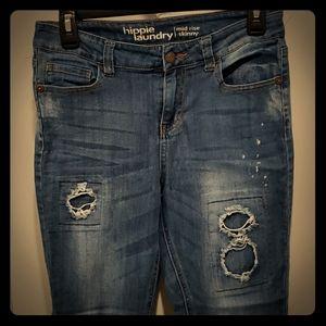 Women's Hippie Laundry mid rise skinny jeans sz 29
